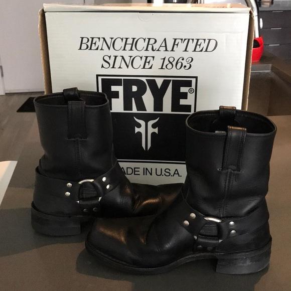 caf5b6881d125 Frye Shoes | Mens Black Harness Boots Excellent Shape | Poshmark